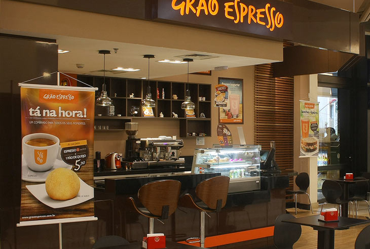 Franquia Grão Espresso Cafeteria taxas