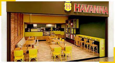 Franquia Havanna modelo cafeteria