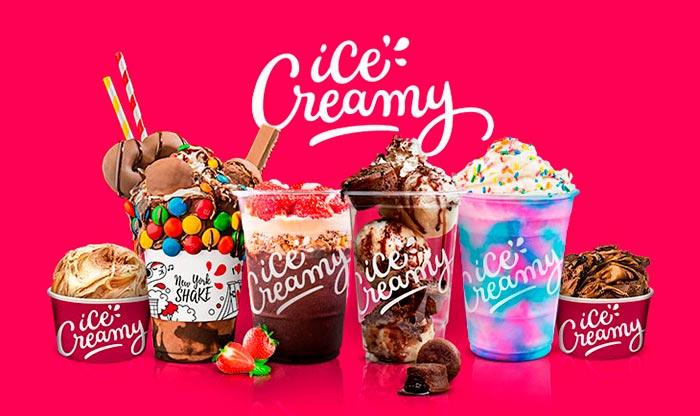 Franquia Ice Creamy mix de produtos