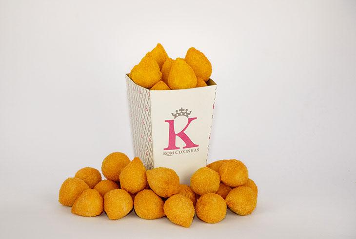 Qual a taxa de franquia da marca Kom Coxinhas