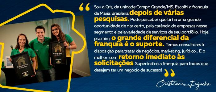 o que falam os franqueados da Maria Brasileira