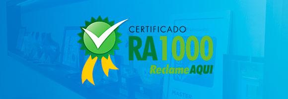 selo RA1000 Franquia Odontoclinic